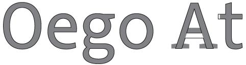 [Bild: Die Buchstaben O, e, g, o, A und t der Arvanta und der Arventa Slab im Vergleich]
